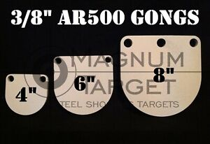 3,4,5,6/&8in AR500 Gong Shooting Targets-3//8in.Rifle Targets-5pc Steel Targets