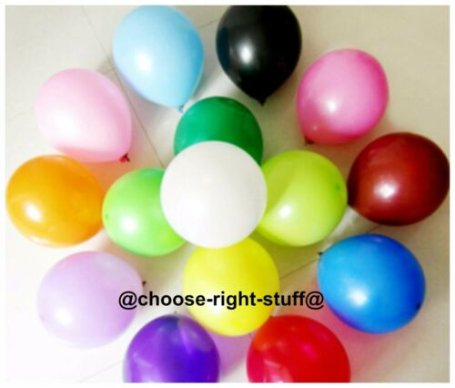 20 X Latex PLAIN BALOONS BALLONS helium BALLOONS Quality Party Birthday Wedding