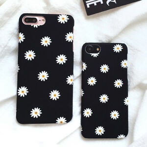 For-Apple-iPhone-X-8-7-6-6s-Plus-Cute-Daisy-Flower-Ultra-Slim-Hard-Case-Cover