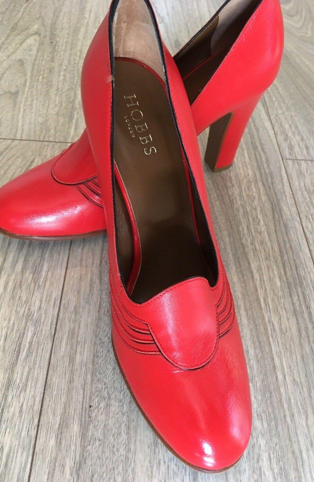 NEW HOBBS Italian Leather Orange High Heeled Court schuhe Größe 6.5 EU 40