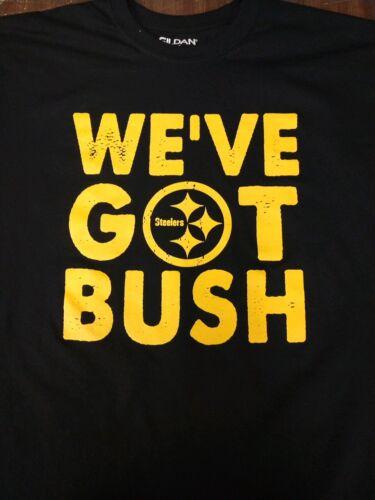 Pittsburgh Steelers Devin Bush T-shirt WE/'VE GOT BUSH Size M-3XL Black /& Gold