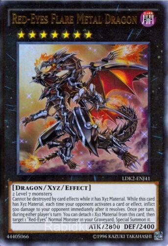 Ultra Rare LDK2-ENJ41 Yugioh Red-Eyes Flare Metal Dragon
