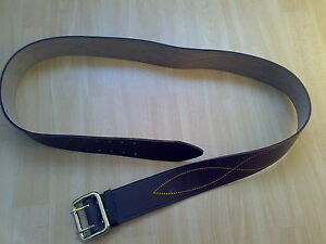Zweidorn-Koppel-Leder-Guertel-Belt-Gr-3-Farbe-Braun-UdSSR-Russland