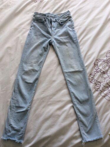 Allsaints Grace Jeans 98 Rrp Colore Ice Blue Ankle Taglia 26 estivo £ gwqxqdRUT