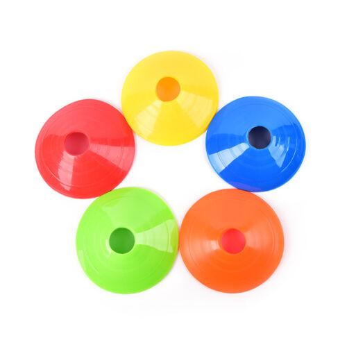 5x Cones Marker Discs Soccer Football Training Sports Entertainment accessory ue