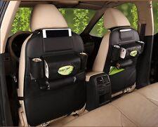 Car Seat Back Bag Organizer Travel Storage Phone Holder Multi-Pocket Leather