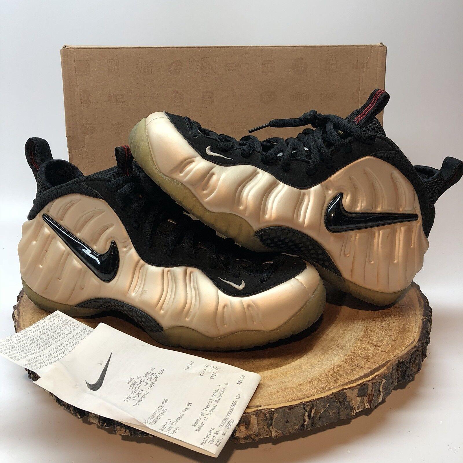 Nike Air Foamposite cómodo pro Pearl blanco negro 624041 206 cómodo Foamposite confortable y atractivo c3400c