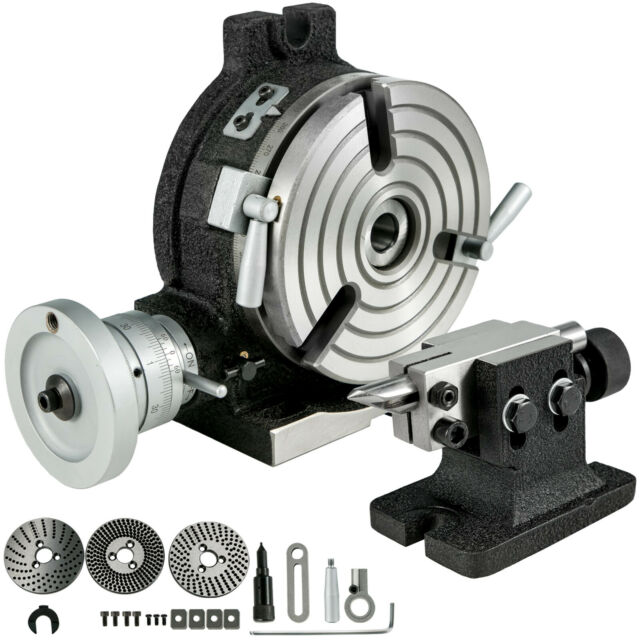 """6/"""" Rotary table 4 SLOT With the Set of  Dividing Plate with Tailstock"""