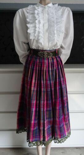 Dirndl Skirt Silk German Austrian  Blouse Belt Out