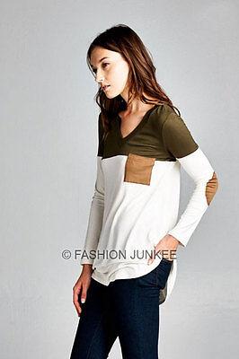 BLACK 52 POCKET TUNIC DRESS Shirt Top A-Line Jersey Long Sleeve Basic S M L XL
