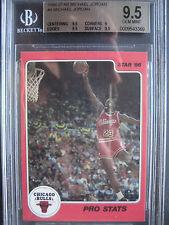 1986 Star #4 MJ Michael Jordan Rookie Rc BGS 9.5 Gem Mint **Pro Stats** HOF