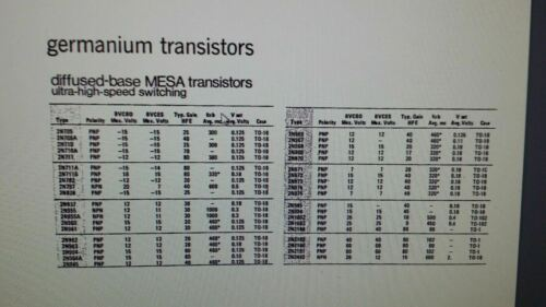 2N972 MOT Trans GP BJT PNP MESA 15V 0.2A 3-Pin TO-18 1 PCS