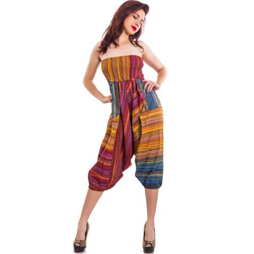 Overall pantaloni donna turca harem multicolor sarouel cavallo basso IND-303
