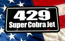 Ford 429 Super Cobra Jet License Plate Car Tag 1970 Torino Gt 1971 Mustang Scj