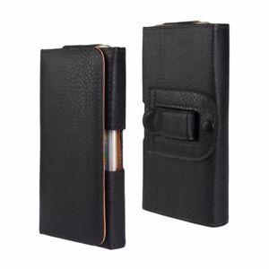 Universal-Cuero-Abatible-Magnetico-Funda-De-Cinturon-Bolsa-cubierta-estuche-para-telefono-movil