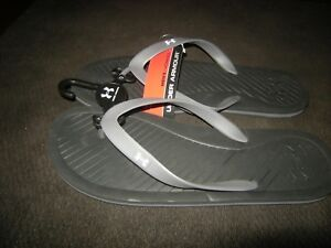 8fbc3cefc2c Brand New Mens Black   Gray Under Armour Atlantic Dune Flip Flops ...