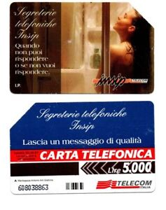 SCHEDA TELEFONICA TELECOM SEGRETERIE TELEFONICHE INSIP ANNO 1997 ITALIA
