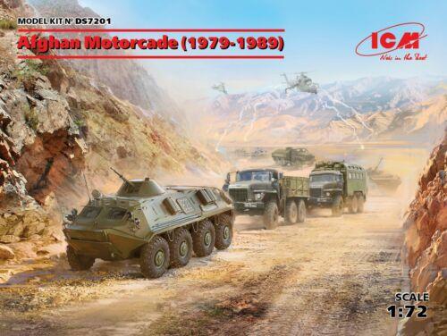 ATZ-5-375 BTR-60PB ICM DS7201-1//72 Afghan Motorcade 1979-1989 URAL-375D-375A