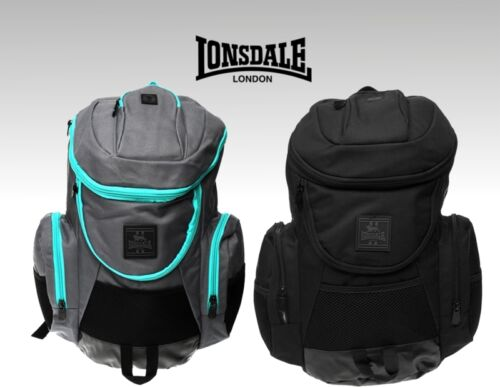 Mens Lonsdale Travelling Padded Straps Niagara Backpack Bag W34 x D19 x H38 cm