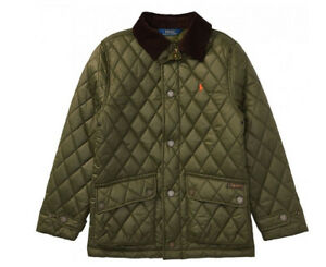 bf14eccb3b1d Polo Ralph Lauren Boys Olive Green Diamond Quilted Jacket