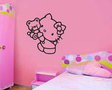 Hello Kitty Baby Kids Girl Quote Wall Stickers Art Room Removable Decals DIY