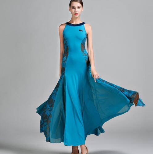 2017 NEW Latin Salsa Ballroom Dance Dress Waltz Tango Standard Dress #S9022