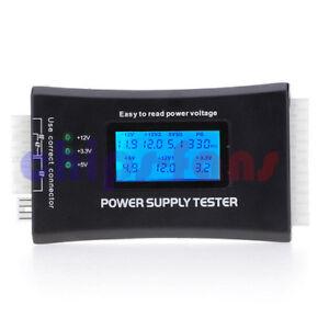 Digital LCD PC Computer PC Power Supply Tester 20/24 Pin SATA HDD Testers