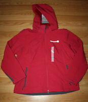 Womens Free Country Heathered Red Softshell Outerwear Full Zip Jacket Small