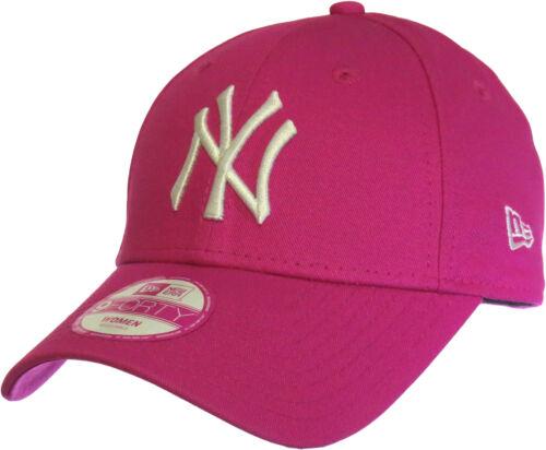 New Era 940 Womens NY Yankees Adjustable Pink Baseball Cap