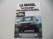 advertising Pubblicità 1979 VOLVO 343