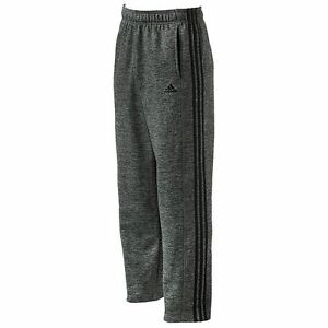 ADIDAS-Men-039-s-3-Stripe-Tech-Fleece-Pants-Gray-Black-Climawarm-2XL-RT-55-NEW-B11