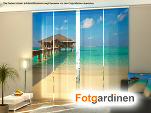 fotogardinen malediven schiebevorhang schiebegardinen mit motiv auf ma ebay. Black Bedroom Furniture Sets. Home Design Ideas