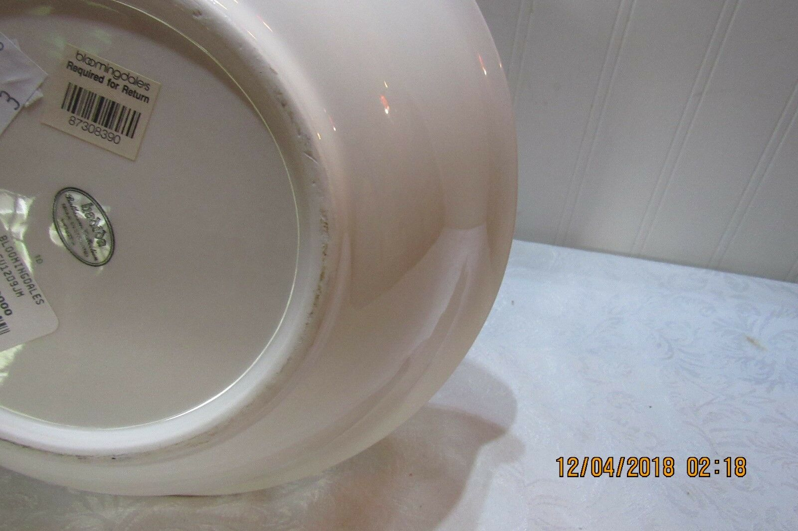 Beautiful Hadida Fine Porcelain Porcelain Porcelain Bowl Floral   Bloomingdales New a24716
