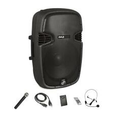 Pyle Portable Bluetooth Loudspeaker - Active PA Speaker System Kit Rechargeable