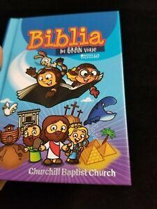 Biblia-Para-Ninos-infantil-Mi-Gran-Viaje-Reina-Valera-1960-AZUL-034-Personalizada-034