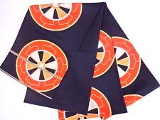 Beautiful Vintage / Antique Japanese Fukuro Obi, Belt For Kimono, Black & Orange