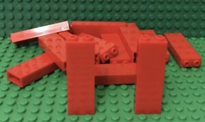 LEGO Lot of 4 Red 1x1x5 Basic Wall Building Brick Pieces
