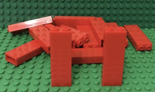 Lego X12 Pieces New Red 1x2x5 Brick Building Column Support Beams Part Lot