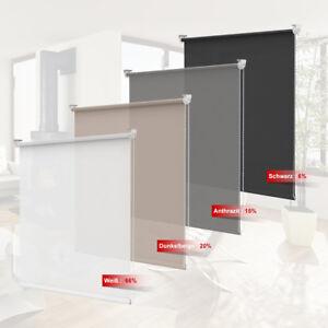 Extrem Tageslichtrollo klemmfix Rollo ohne Bohren für Fenster innen PG51