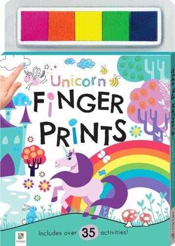 Libro de actividad de huellas digitales Unicornio-Unicornios por Hinkler Libros-Nuevo-Libre Post