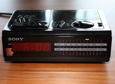 Sony Dream Machine Rare FM AM Digital Clock Radio Model ...