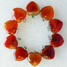 wholesale 20pcs Beautiful heart Unakite Jasper pendant bead  BC3112