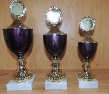 3er Serie Pokale mit Emblem + Gravur 36/33/29cm #10.6 (Wanderpokal Pokal Sieger)