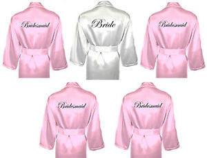 Personalised-Wedding-Robes-Dressing-Gowns-Multiple-Pack-in-BABY-PINK-Bridal