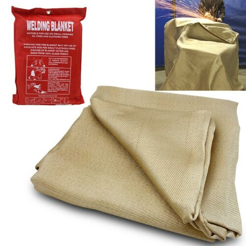 Welder Safety Protective Flame Retardant Cover HD 4/' x 6/' ft Welding Blanket