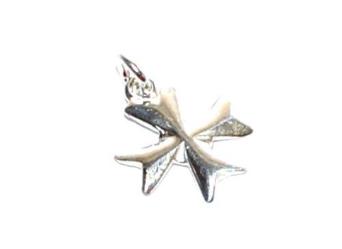 Plata esterlina 925 Joyería Artesanal Encanto Colgante Religioso Cruz De Malta