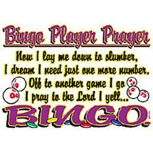 Sm3xl Bingo Gambling Dames Slot Size Too T shirt lange Bling met mouwen Plus AqR35jc4L