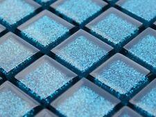 LUXUS Glasmosaik Keramik Fliesen blau türkis petrol HOCHGLANZ GLITZER
