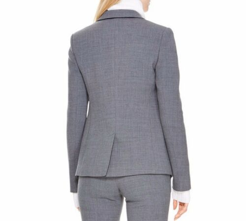 Hea Karan Sz10 Runway 795731023410 Notch 495 Steel Button Collar Donna Nwt Jacket Dkny Single EqwpxPIHt