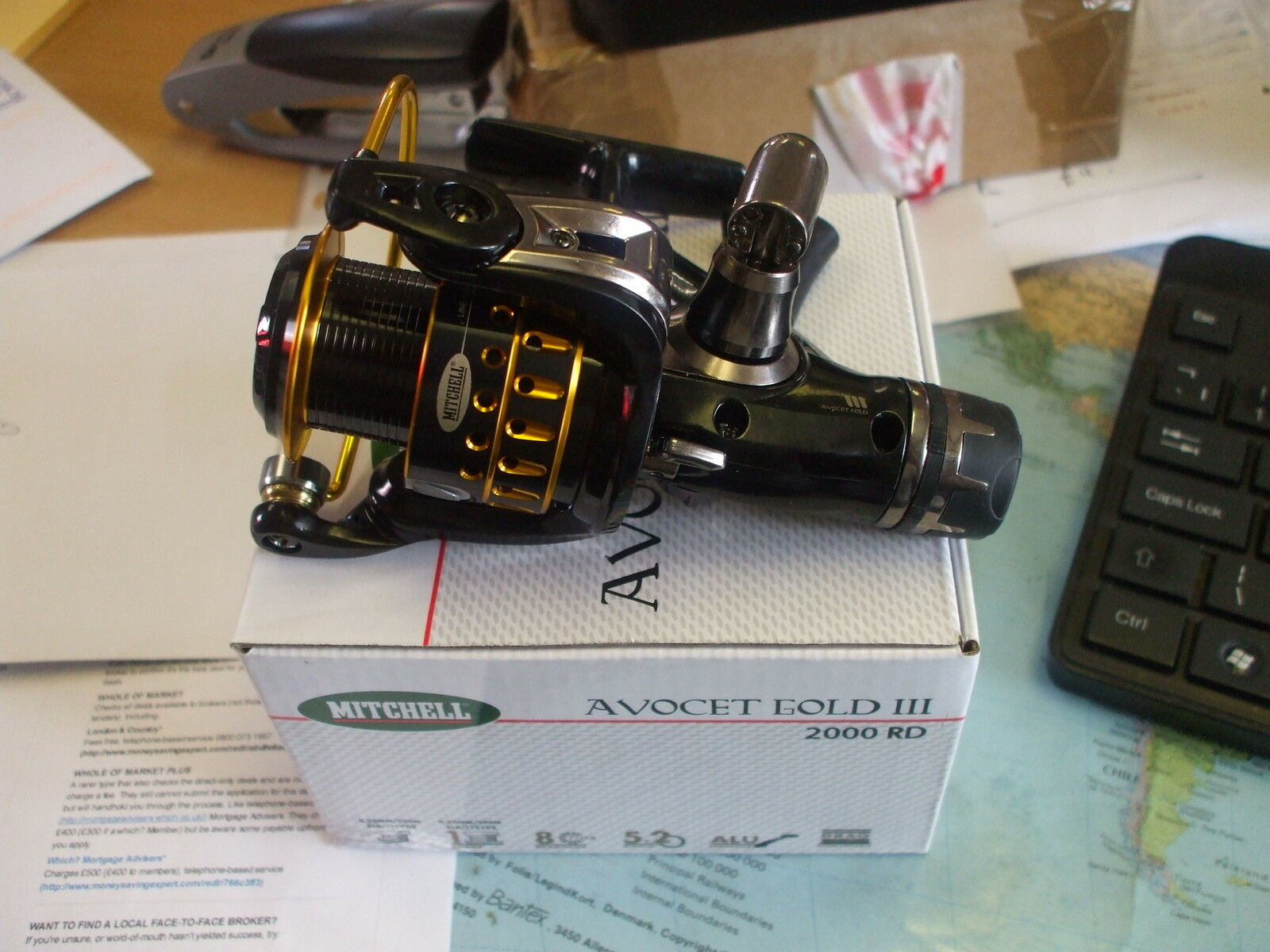 New model Mitchell Avocet 3 gold 2000RD Rear Drag match float spinning sea reel